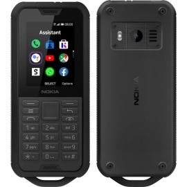 Nokia 800 4G Tough Black- 2.4' Screen,4GB Memory, 512 MB RAM, 2MP Rear Camera, IP68, drop protection, MIL-STD-810G compliant, 2100 mAh Battery (16CNTB21A03)