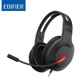 Edifier G1 USB Professional Gaming Headset with Microphone - Noise Cancelling Microphone, LED lights (G1-BK)