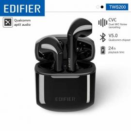 Edifier TWS200 TWS Wireless Earbuds Bluetooh 5.0 aptX Codec with Dual Microphone 24h playback time Noise Cancellation (TWS200)