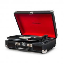 Crosley Cruiser Deluxe Portable Turntable - Black CRIW8005D-BK4