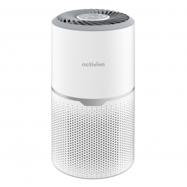 mbeat activiva True HEPA Air Purifier (MB-AP-01W), 50m3/h Fine Preliminary Filter Layer + H13 HEPA Filter + Activated Carbon Layer UV-C tube light