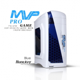 Huntkey MVP Pro Gaming computer chassis - Blue (No PSU Included, NO FAN Included) (CASHUNMVPPROBL-1)