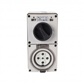 4C | Combination Switched socket 5 Pin IP66 500V 20A (040.000.0155)