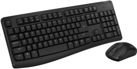 RAPOO X1800Pro Wireless Mouse & Keyboard Combo - 2.4G, 10M Range, Optical, Long Battery, Spill-Resistant Design,1000 DPI, Nano Receiver, Entry (X1800Pro)