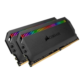 Corsair Dominator Platinum RGB 32GB (2x16GB) DDR4 3600MHz C18 XMP 2.0 Black Desktop PC Gaming Memory (CMT32GX4M2D3600C18)