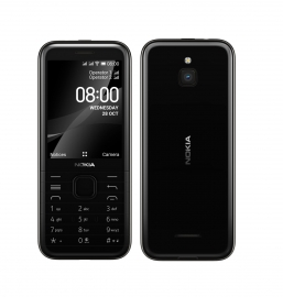 Nokia 8000 4G Black 2.8' Screen,4GB Memory, 512 MB RAM,  2MP Rear Camera, Dual SIM, 1500mAh Removeable Battery, WiFi Support (16LIOB21A14)
