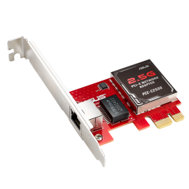 ASUS PCE-C2500 2.5GBase-T PCIe Network Adapter With Backward Compatibility Of 2.5G/1G/100Mbps; RJ45 port, Windows and Linux Support (PCE-C2500)