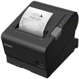Epson TM-T88VI USB printer, Built-in Ethernet + Serial Comms Cable and AC Line Cord (C31CE94241-BR)