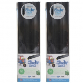 3Doodler Create PLA Plastic Tuxedo Black-2pack (3DS-PL01-TB-2P)