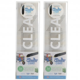 3Doodler Create PLA Plastic Clearly Clear-2pack (3DS-PL11-CL-2P)