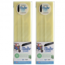 3Doodler Create PLA Plastic Glow In The Dark-2pack (3DS-PL15-GD-2P)