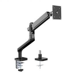 Brateck Single Monitor Premium Aluminum Spring-Assisted Monitor Arm Fit Most 17' - 32' Montor Up to 9Kg Per screen (Black) (LDT50-C012-B)