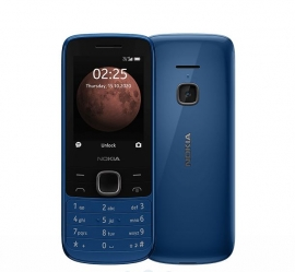 Nokia 225 4G Classic Blue 2.4' Display, Unisoc T117 CPU, 64MB ROM,128MB RAM, 16GB MicroSD card (16QENL21A07)