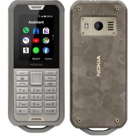 Nokia 800 4G Tough Sand 2.4' Screen,4GB Memory, 512 MB RAM,  2MP Rear Camera, IP68, drop protection, MIL-STD-810G compliant, 2100 mAh Battery (16CNTN21A04)