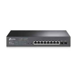 TP-Link TL-SG2210MP 10-Port Gigabit Smart Switch with 8-Port PoE+ 1xFan 14.9Mpps Support Omada SDN, 802.1p CoS/DSCP QOS, IGMP Snoop Rack Mountable (TL-SG2210MP)