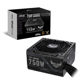ASUS TUF-GAMING-750B PSU 750W Bronze 80 Plus Bronze, Military Grade, Protective PCB Coat, Axial-Tech Fan, Sleeved Cables, 6YW (TUF-GAMING-750B)