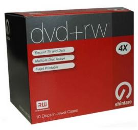 Shintaro Dvd+rw 4.7gb 4x 10pk Ij Sh4.7rw4ij+10p