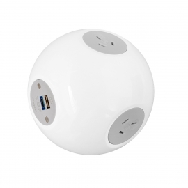 OE Elsafe: Pluto 2 x GPO / 1 x 5A TUF with 2000mm Lead with 10A Three Pin Plug - White 016.012.0004