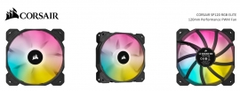 Corsair Black SP120 RGB ELITE, 120mm RGB LED PWM Fan with AirGuide, Single Pack (CO-9050108-WW)