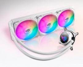 ASUS ROG Strix LC 360 RGB White Edition Liquid CPU Cooler Aura Sync Triple ROG 120mm Addressable RGB Radiator Fans AM4 AM4 TR4 Intel:LGA 115x1366 2011 (ROG STRIX LC 360 RGB WHITE EDITION)