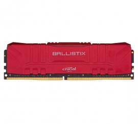Crucial Ballistix 8GB DDR4 UDIMM 3200Mhz CL16 Red Heat Spreader Desktop Gaming Memory (BL8G32C16U4R)