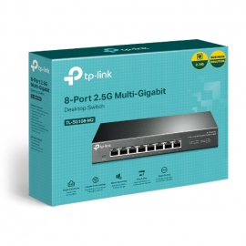 TP-Link TL-SG108-M2 8-Port 2.5G Desktop Switch, Super Fast Connection 2.5G NAS, 2.5G Server, 2.5G WiFi 6 AP, 4K Video, Wall Mountable, Plug and Play (TL-SG108-M2)