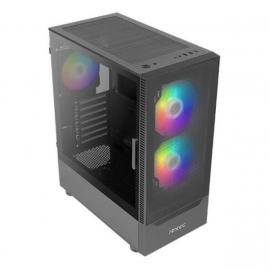 Antec NX410 ATX, mATX, ITX, LED Control, Tempered Glass Side Panel. 2x 140mm ARGB Front & 1 x 120mm ARGB pre-installed Rear, Black Gaming case. (NX410)