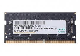 Apacer 8GB (1x8GB) DDR4 SODIMM 2666MHz CL19 Single Ranked Notebook Laptop Memory RAM (ES.08G2V.GNH)