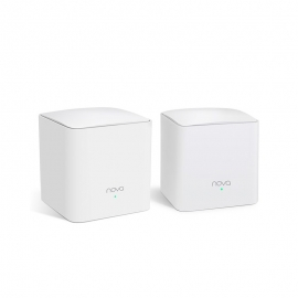 Tenda Nova MW5s 2-pack AC1200 Whole-Home Mesh WiFi System, 230 Square Meters, 867Mbps/300Mbps, MI-MIMO, SSID Broadcast, Beamforming, Smart QoS (MW5s(2-pack))