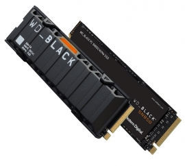 Western Digital WD Black SN850 500GB Gen4 NVMe SSD Heatsink - 7000MB/s 5100MB/s R/W WDS500G1XHE