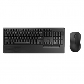 RAPOO X1960 Wireless Mouse and Keyboard Combo with Palm Rest - 1000DPI, Wireless 2.4G,