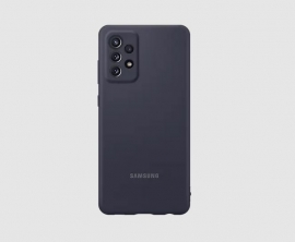 Samsung A72 Silicone Cover Black - Silky smooth and stylish, Slender form, serious safeguarding, Colour choices for any style EF-PA725TBEGWW