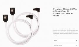 Corsair Premium Sleeved SATA 6Gbps 60cm 90 Connector Cable White CC-8900283