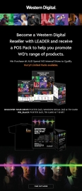 Western Digital WD Marketing Pack - Your Drive A2 Poster, A3 Window Decal, Tri-Card, WD_Black A2 Poster, T-Shirt (HBWD-WDMKPACK)