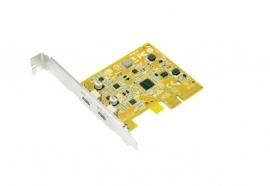 Sunix 2 port USB3.1 Enhanced superSpeed PCIe 3.0 Dual Lane with Type-C Receptable (USB2312C)