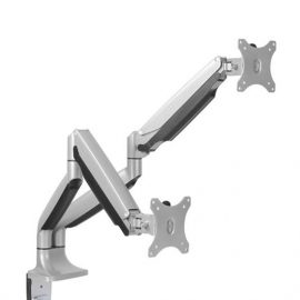 Brateck OEM Dual Monitor Aluminum Interactive Counterbalance Monitor Arm Fit Most 13''-32'' Monitors Up to 9kg per screen VESA 75x75/100x100 -Project (LDT10-C024-OEM)