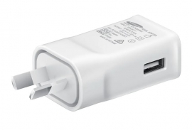 Samsung Fast Charging Travel Adapter (Type C) (9V) White - Travel Adapter unit, USB Type-C 2.0 Cable (EP-TA20HWECGAU)