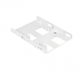 Corsair Dual Corsair 2.5' to 3.5' HDD SSD Mounting Bracket Adapter Rack Dock Tray Hard Drive Bay for Desktop Computer PC Case White