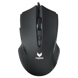 RAPOO V20S LED Optical Gaming Mouse Black - Up to 3000dpi 16m Colour 5 Programmable Buttons