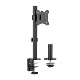 Brateck Pole Mount Single Monitor Mount Fit Most 17'-32' Monitors, Up to 9kg per screen VESA 75x75/100x100 LDT57-C01