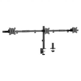 Brateck Pole Mount Triple-Screen Monitor Mount Fit Most 17'-32' Monitors, Up to 7kg per screen VESA 75x75/100x100 LDT57-C03