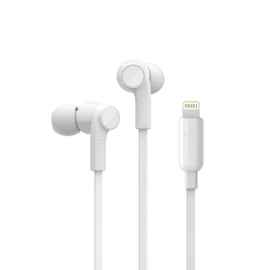 Belkin SOUNDFORM Headphones with Lighting Connector - White - a perfect fit to your ear for superior sound and noise isolation G3H0001btWHT