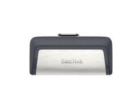 SanDisk 32GB Ultra Dual Drive Go 2-in-1 USB-C & USB-A Flash Drive Memory Stick 150MB/s USB3.1 Type-C Swivel SDDDC2-032G-G46