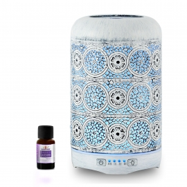 mbeat activiva Metal Essential Oil and Aroma Diffuser-Vintage White -260ml (L) ACA-AD-M2