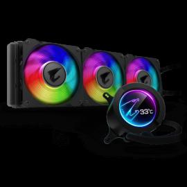 Gigabyte AORUS LIQUID COOLER 360 All-in-one Liquid Cooler with Circular LCD Display, GP-AORUS WATERFORCE 360