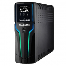 PowerShield Gladiator 1500VA 900w Gaming UPS, Real Time CPU Temp, Speed, Load, 2 x USB Charging Ports, PSGL1500