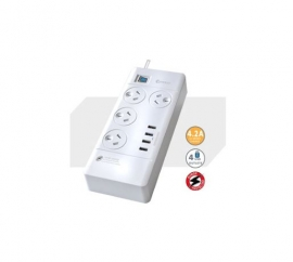 Sansai 4 Outlets & 4 USB Outlets Surge Protected Powerboard (PAD-4044C)