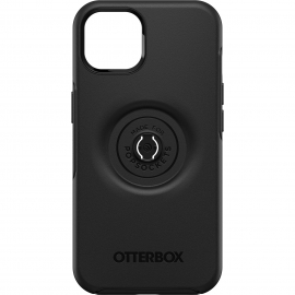 OtterBox Apple iPhone 13 Otter+Pop Symmetry Series Case - Black(77-85380) - Made with 50% recycled plastic**, Raised edges protect camera and screen
