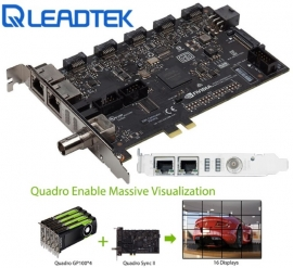Leadtek nVidia Quadro SYNC II Card to connects up to 32 4K Synchronized Displays for GP100 P4000 P5000 P6000 SYNC2