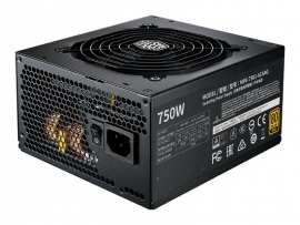 COOLERMASTER MWE 750W GOLD V2 MODULAR, FULLY MODULAR CABLE DESIGN, 80 PLUS GOLD, COMPACT S